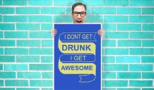 How i Met Your Mother I dont get drunk I get awesome Art Pint - Wall Art Print Poster   - Purple Geekery